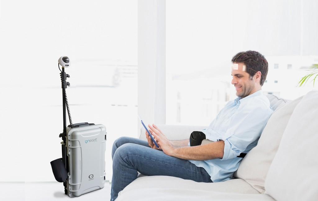 ONsight AVS aparat EEG polisomnograf w domu pacjenta